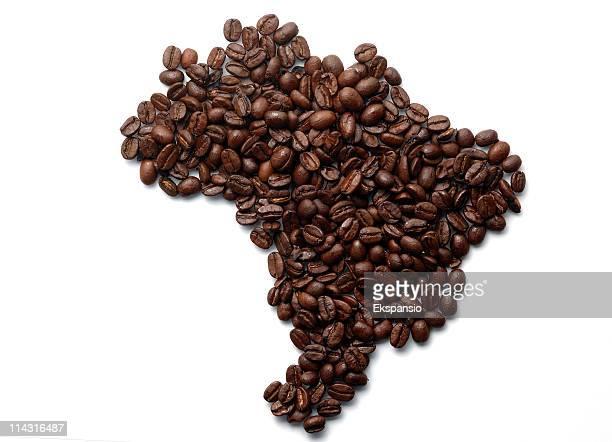 brasil-mapa série de café - coffee - fotografias e filmes do acervo