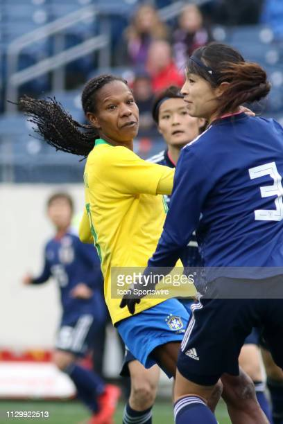 Brazil defender Formiga during the SheBelieves Cup match between Brazil and Japan at Nissan Stadium on March 2nd 2019 in Nashville Tennessee