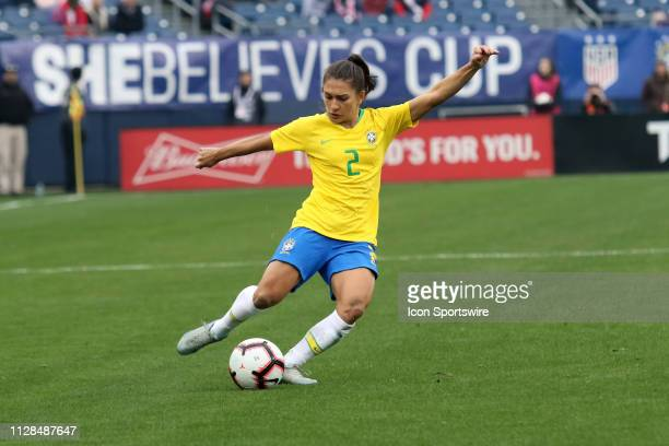Brazil defender Leticia S during the She Believes Cup match between Brazil and Japan at Nissan Stadium on March 2nd 2019 in Nashville Tennessee