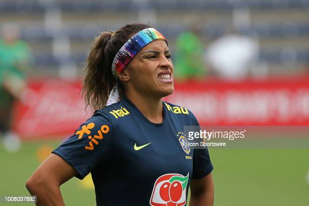 Brazil defender Monica before a women's soccer match between Brazil and Australia in the 2018 Tournament of Nations on July 26 2018 at Children's...