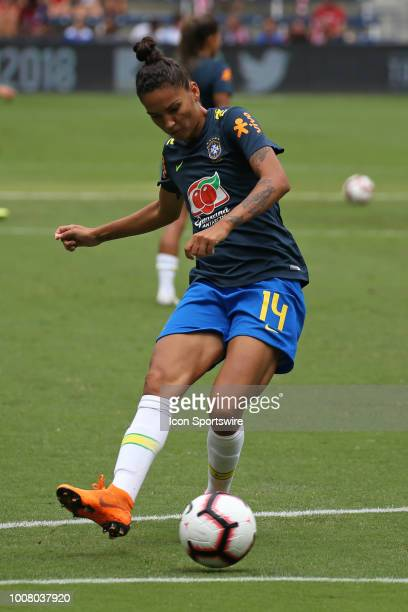 Brazil defender Poliana before a women's soccer match between Brazil and Australia in the 2018 Tournament of Nations on July 26 2018 at Children's...