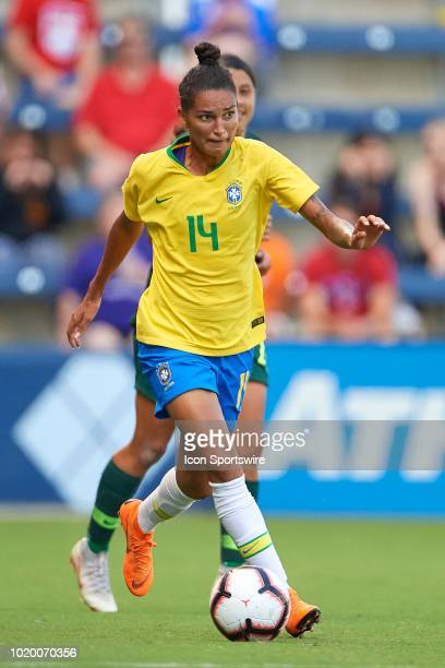 Brazil defender Poliana dribbles the ball in game action during a Tournament of Nations match between Brazil vs Australia on July 26 2018 at...