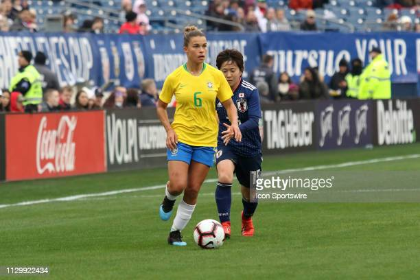 Brazil defender Tamires during the SheBelieves Cup match between Brazil and Japan at Nissan Stadium on March 2nd 2019 in Nashville Tennessee