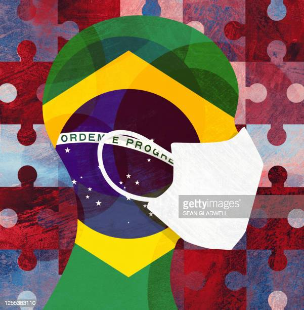 brazil face mask - brazil stock pictures, royalty-free photos & images