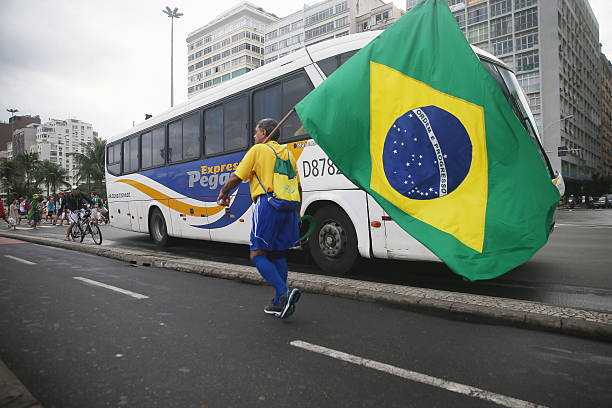 BRA: Brazilian Fans Cheer On Their National Team During World Cup Semi Finals
