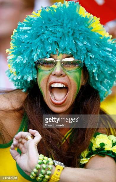 Brazil fan shows their support prior to the FIFA World Cup Germany 2006 Group F match between Brazil and Australia at the Stadium Munich on June 18...