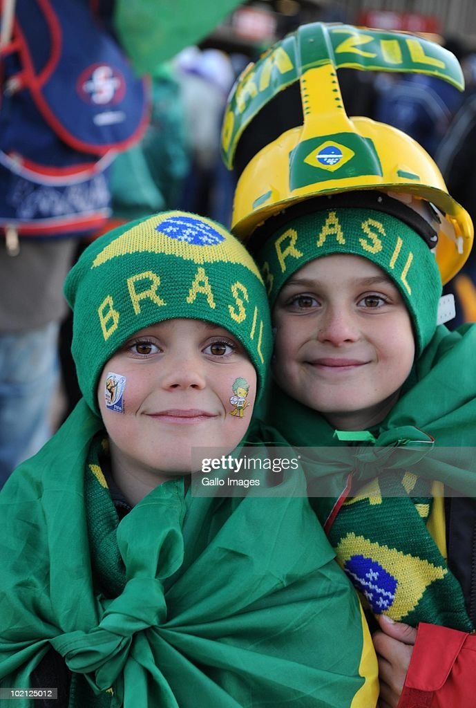 Brazil fans arrive for the 2010 FIFA World Cup Group G match between Brazil and Korea DPR at Ellis Park Stadium on June 15, 2010 in Johannesburg, South Africa.