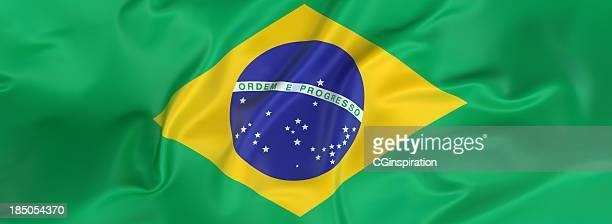 brasil bandera banner - bandera fotografías e imágenes de stock