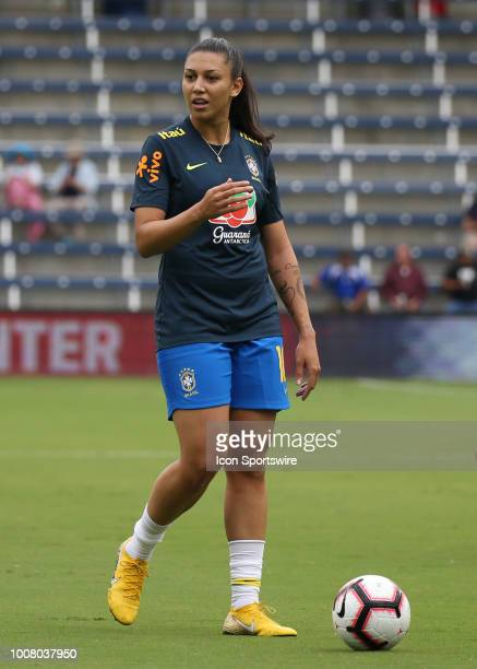 Brazil forward Beatriz before a women's soccer match between Brazil and Australia in the 2018 Tournament of Nations on July 26 2018 at Children's...