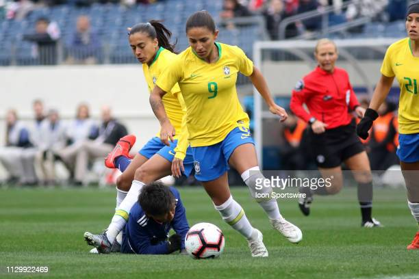 Brazil forward Debinha during the SheBelieves Cup match between Brazil and Japan at Nissan Stadium on March 2nd 2019 in Nashville Tennessee