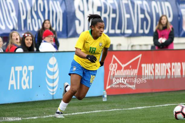 Brazil forward Geyse during the SheBelieves Cup match between Brazil and Japan at Nissan Stadium on March 2nd 2019 in Nashville Tennessee