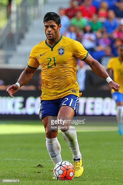 Brazil forward Hulk during the first half of the game between the Brazil and the Costa Rica played at Red Bull Arena in HarrisonNJ Brazil defeats...