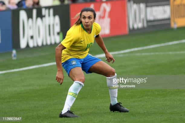 Brazil forward Marta during the SheBelieves Cup match between Brazil and Japan at Nissan Stadium on March 2nd 2019 in Nashville Tennessee