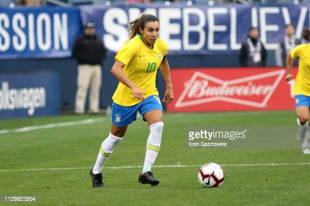 Brazil forward Marta the SheBelieves Cup match between Brazil and Japan at Nissan Stadium on March 2nd 2019 in Nashville Tennessee