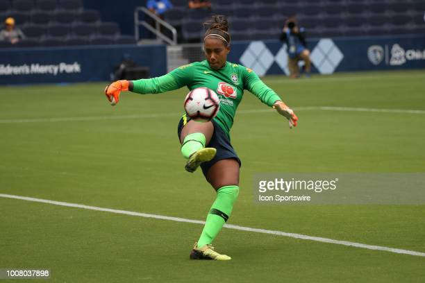 Brazil goalkeeper Barbara before a women's soccer match between Brazil and Australia in the 2018 Tournament of Nations on July 26 2018 at Children's...