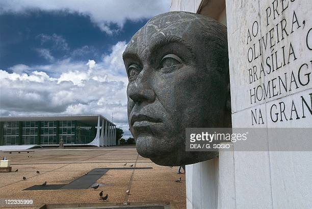Brazil Goias State Brasilia Monument to President Juscelino Kubitschek and Law Courts