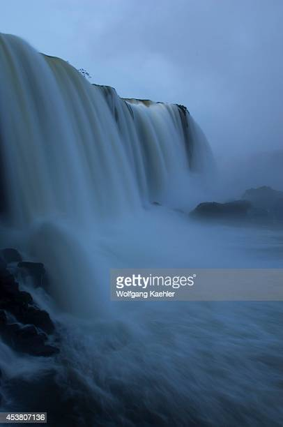 Brazil Iguassu National Park Iguassu Falls At Devils Throat At Dawn
