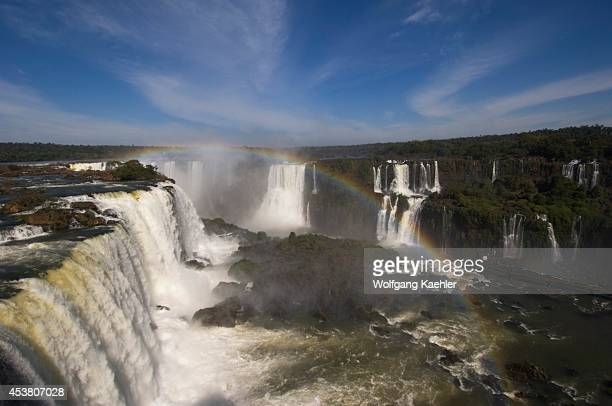 Brazil Iguassu National Park Iguassu Falls At Devils Throat