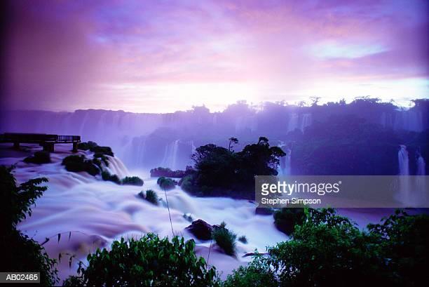 Brazil, Lower Floriano Falls, sunrise