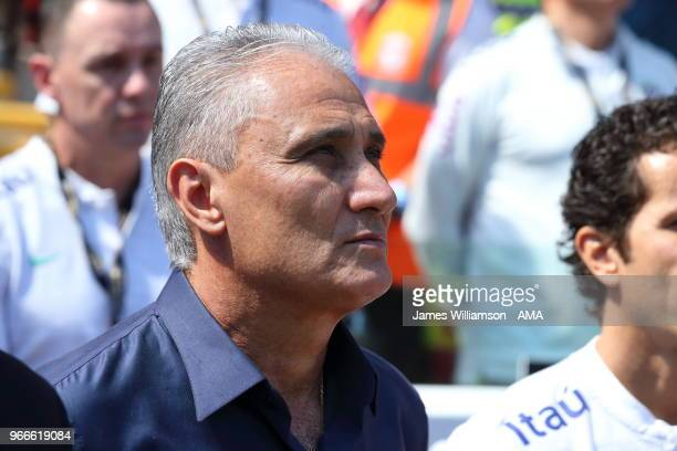 Brazil manager Tite during the International friendly match between Croatia and Brazil at Anfield on June 3 2018 in Liverpool England