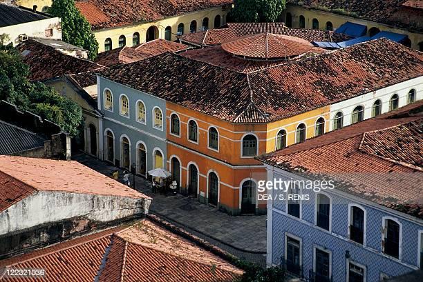 Brazil, Maranhao State, São Luís Island, São Luís, buildings in historical centre.