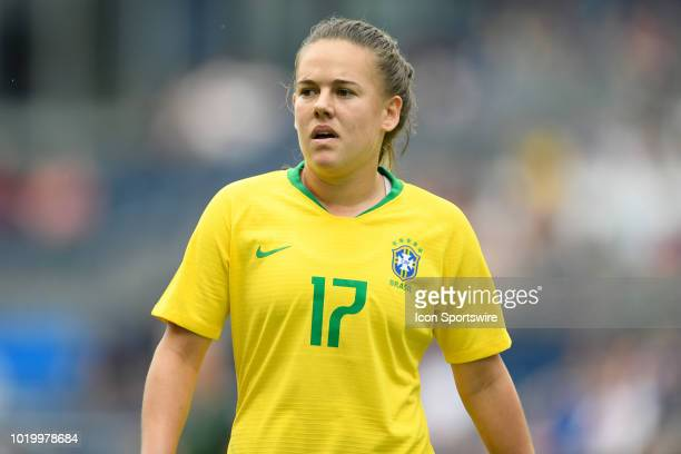 Brazil midfielder Andressinha looks on in game action during a Tournament of Nations match between Brazil vs Australia on July 26 2018 at Children's...