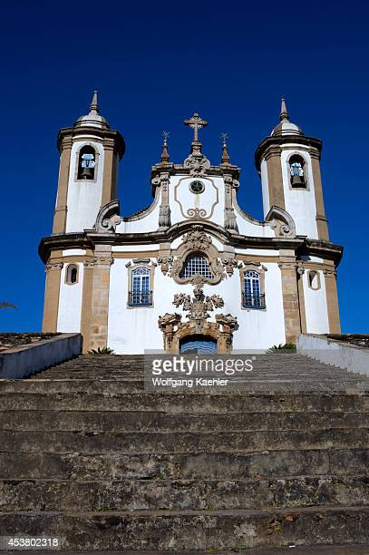Brazil, Minas Gerais, Colonial Town Of Ouro Preto , Church Of Our Lady Of Mount Caramel.