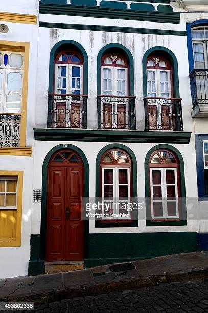 Brazil, Minas Gerais, Colonial Town Of Ouro Preto , Local Houses.