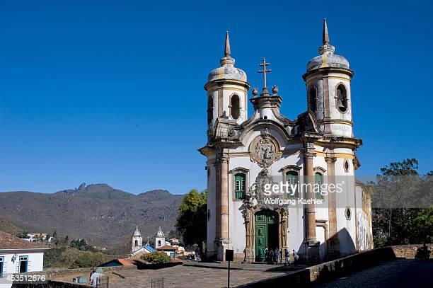 Brazil, Minas Gerais, Colonial Town Of Ouro Preto , Saint Francis Of Assisi Church, Baroque Architecture.