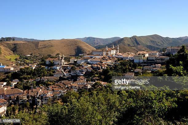 Brazil Minas Gerais Colonial Town Of Ouro Preto View Of Town