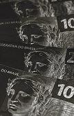 brazil money dark background concept financial