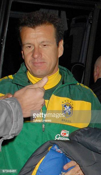 Brazil National Football Team Head Coach Dunga is seen on March 1, 2010 in London, England. The Brazilian National Team is in London for an...