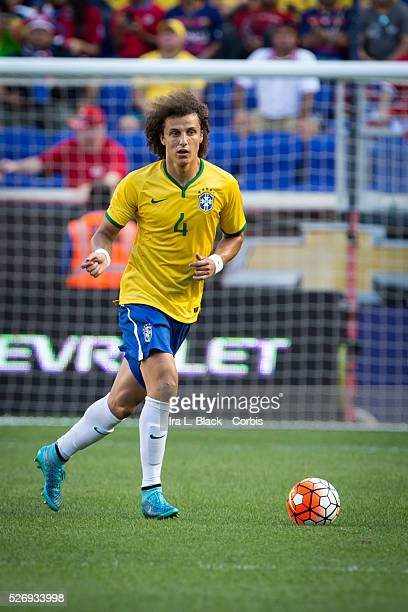 Brazil national team player David Luiz during the Soccer 2015 Brazil National Team vs Costa Rica on September 5th 2015 at Red Bull Arena in Harrison...