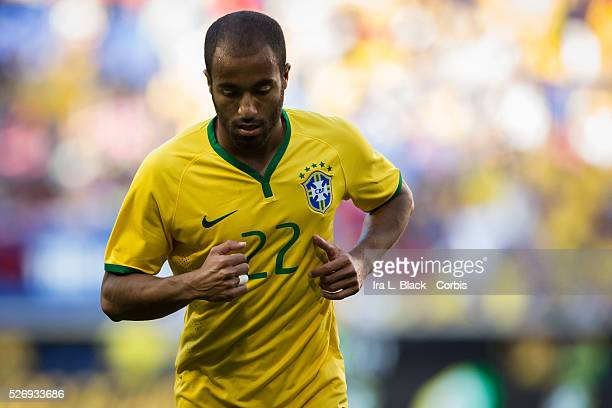 Brazil national team player LUCAS during the Soccer 2015 Brazil National Team vs Costa Rica on September 5th 2015 at Red Bull Arena in Harrison NJ...