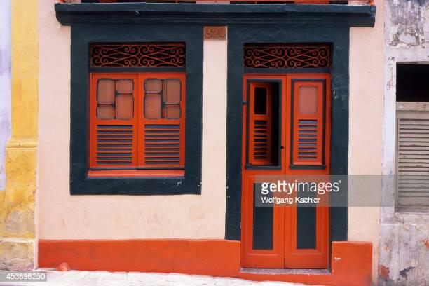 Brazil Near Recife Olinda Street Scene Door And Window