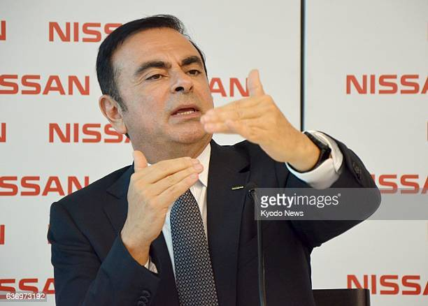 REZENDE Brazil Nissan Motor Co President Carlos Ghosn speaks to reporters at the Japanese automaker's new plant in Rezende in the Brazilian state of...