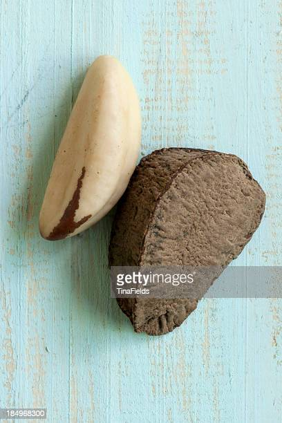 brazil nut seeds - brazil nut stock photos and pictures