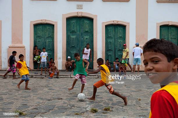 Brazil, Olinda, playing football