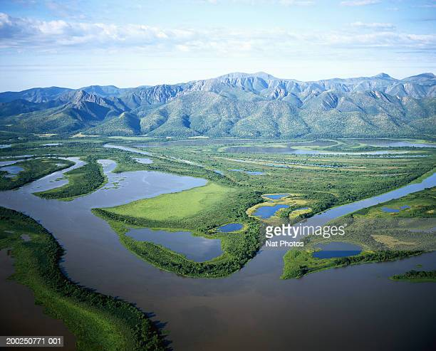 Brazil, Pantanal, floodlands, aerial view