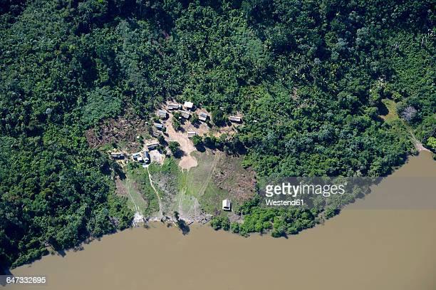 brazil, para, itaituba, sawle muybu, village of mudndururu people, rio tapajos - cultura indígena - fotografias e filmes do acervo