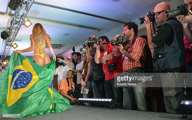 SAO PAULO Brazil Photographers cover a 'Miss BumBum 2013' contest as shown in this file photo taken on Nov 13 2013
