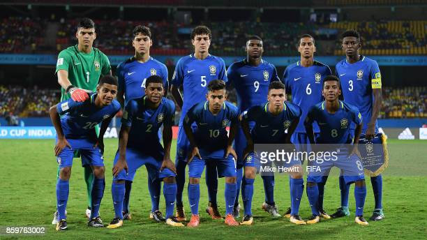 Brazil Poses For A Team Photo Ahead Of The Fifa U World Cup India  Group