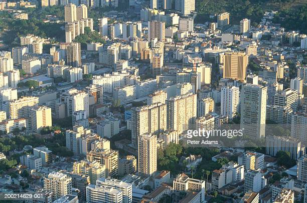 brazil, rio de janeiro, cityscape, elevated view - peter adams stock pictures, royalty-free photos & images