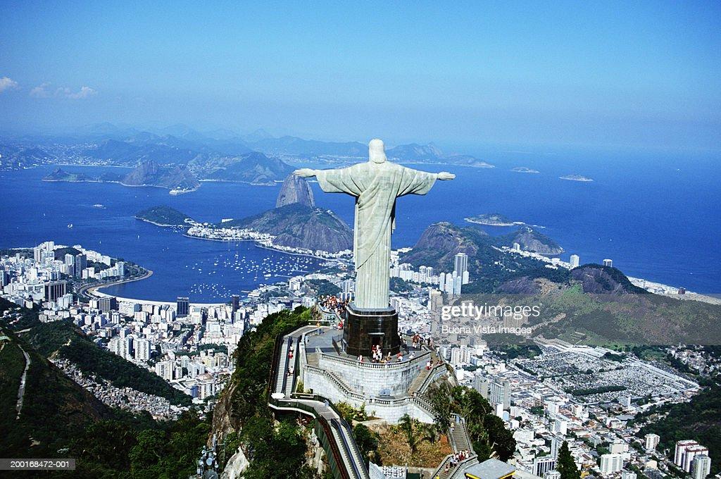 Brazil Rio De Janeiro Cristo Redentor On Corcovado Stock