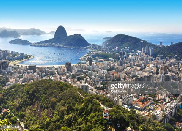 Brazil Rio de Janeiro with Sugarloaf and Guanabara Bay at morning