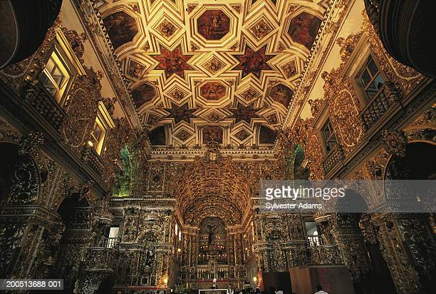 brazil, salvador, pelourinho, sao francisco de assis church, indoors - assis ストックフォトと画像