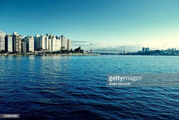 Brazil, Santa Catarina, Hercilio Luz Bridge