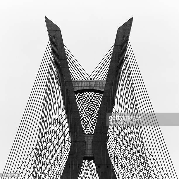 brazil, sao paulo state, sao paulo, estaiada bridge - são paulo stock pictures, royalty-free photos & images