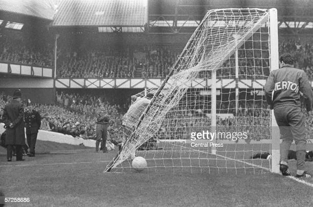 Brazil score in their Group C match against Bulgaria at Goodison Park in Liverpool during the 1966 England World Cup Brazil went on to win the game...