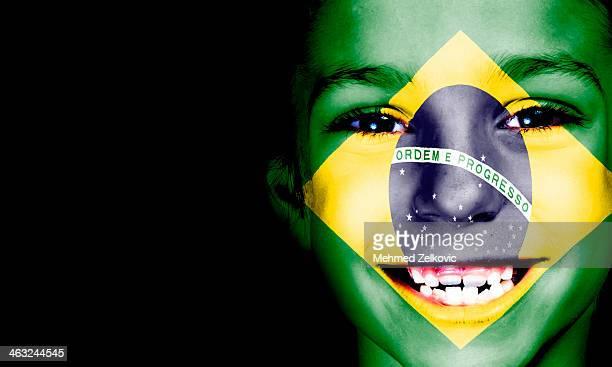 Brazil Sport Fan Flag Face